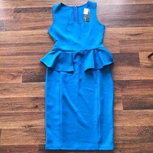 Dresses & Skirts - Blue Casual Peplum Dress